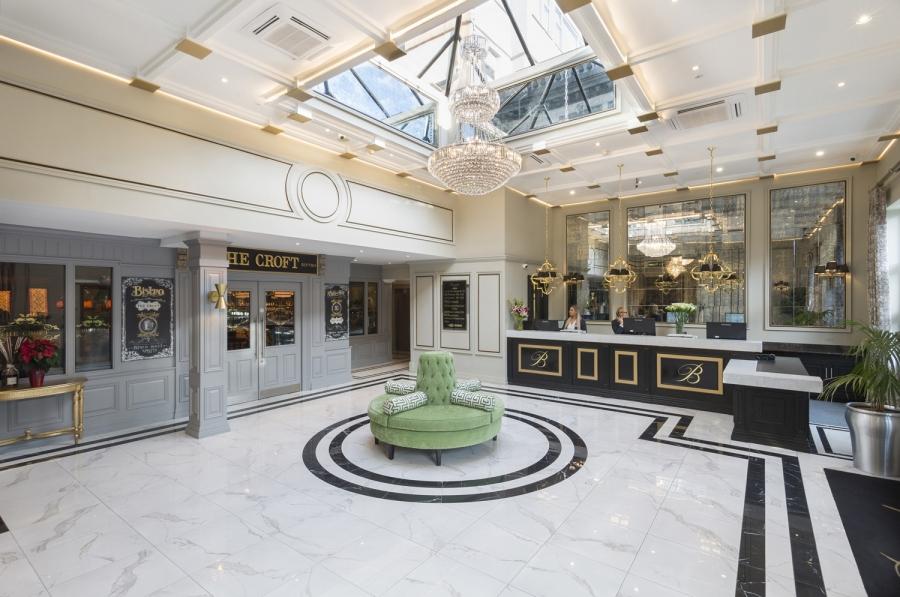 Bonnington Hotel Lobby Dublin Mark Reddy Trinity Digital Studios Commercial Photographer