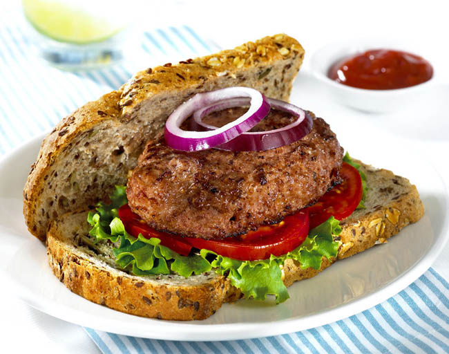 Burger on brown bread Mark Reddy Food Photographer Trinity Digital Studios