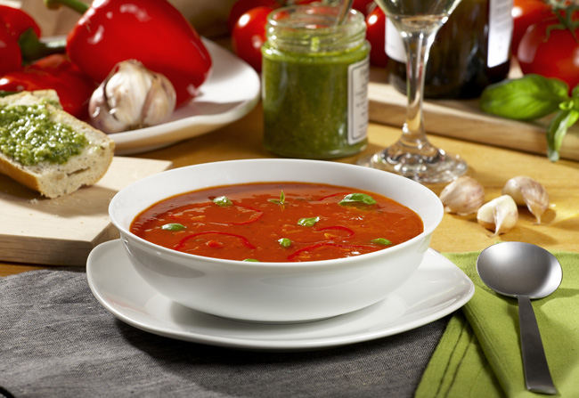 Red Pepper Soup Mark Reddy Food Photographer Trinity Digital Studios